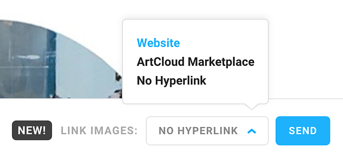 Hyperlink the images in your message